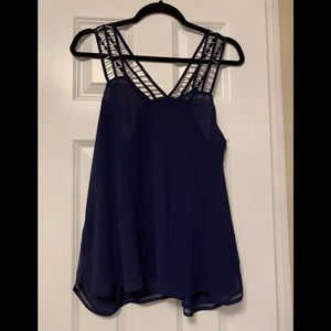Blue tank blouse